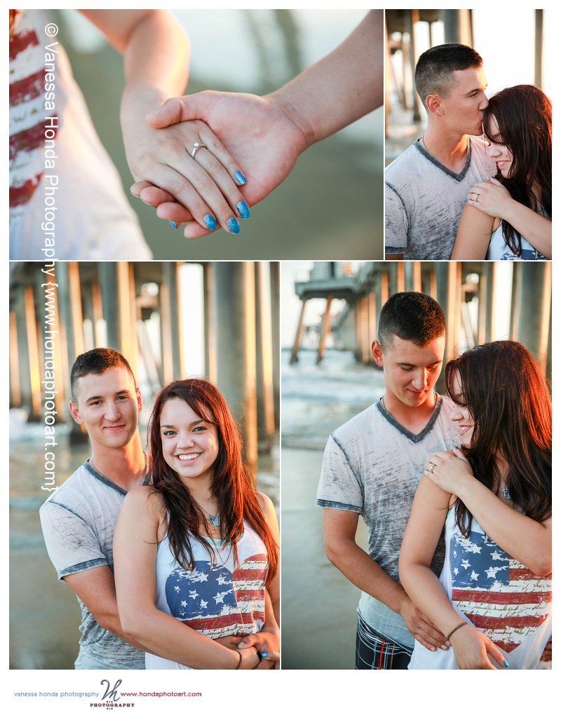 Huntington Beach Proposal Photographs - Orange County Photographer (www.hondaphotoart.com)