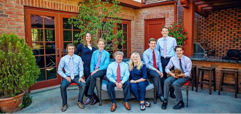Beautiful family portraits at home in La Canada {Orange County Family portrait photographer}