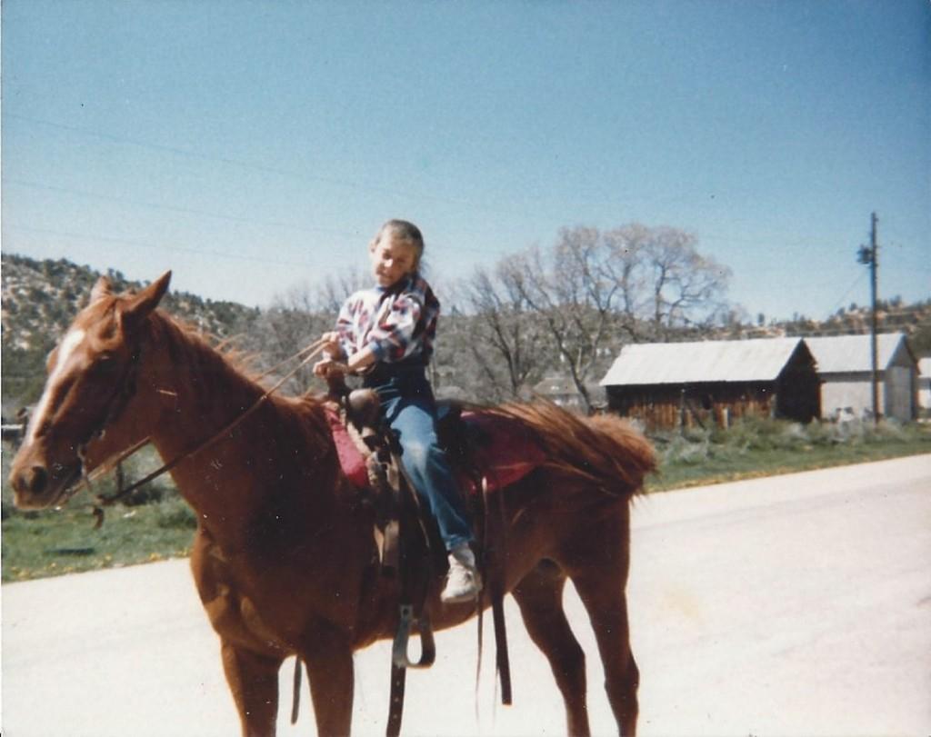 horseback riding in Alton as a kid
