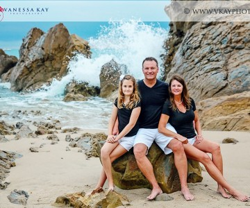 Beautiful family by the sea {Corona Del Mar family portrait photographer}