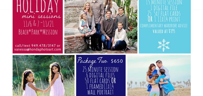 Holiday Mini Sessions {Orange County Family portraits}