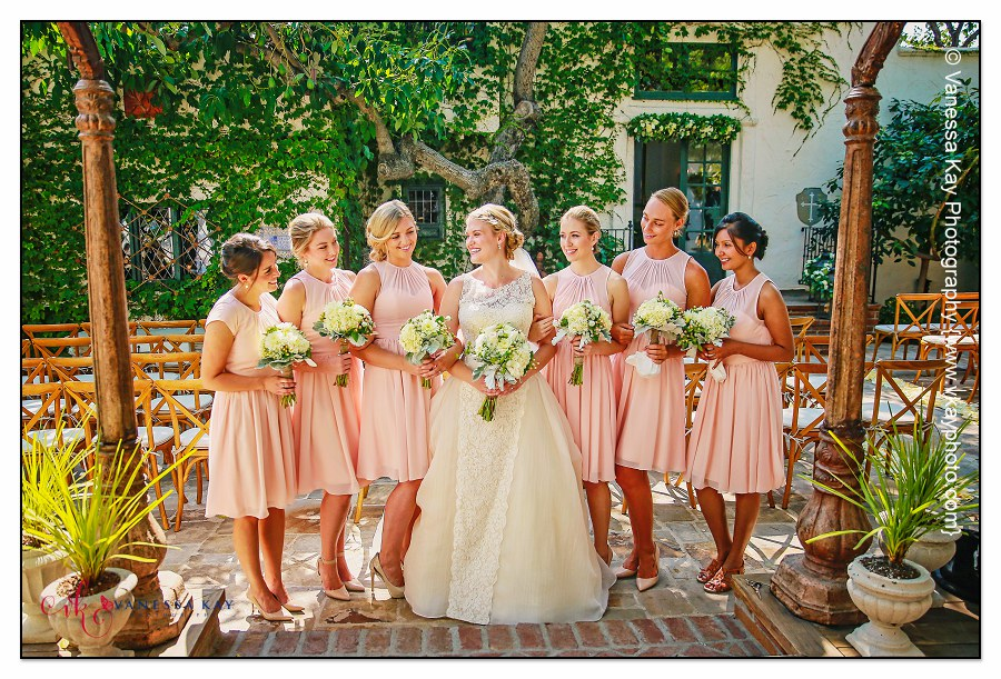 Orange County Wedding Couple and Bridal Party 2