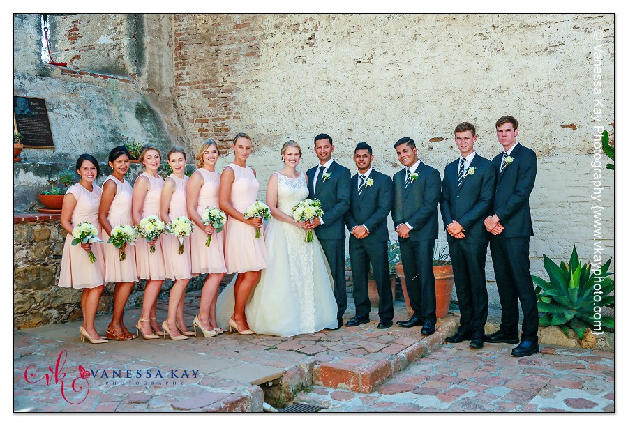 Orange County Wedding Couple and Bridal Party 22