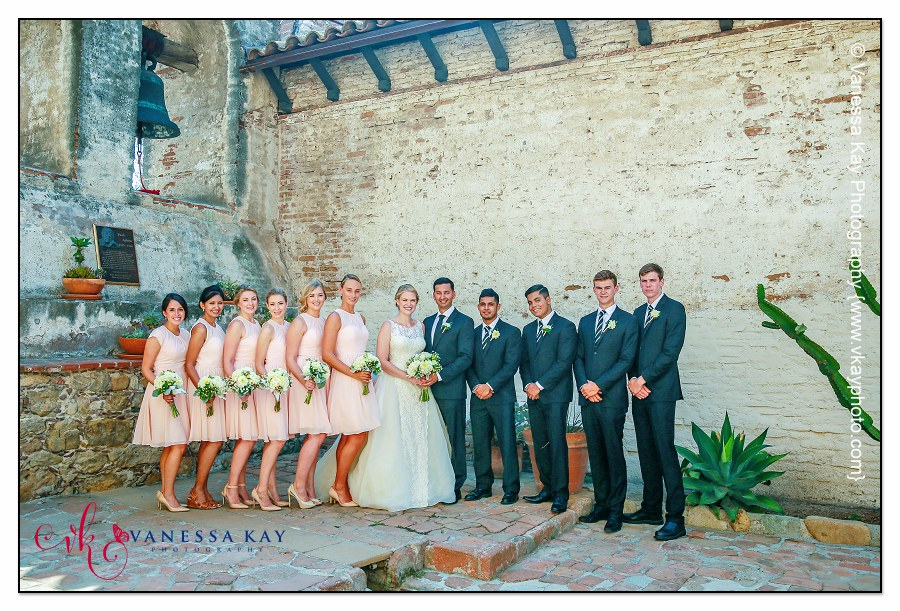 Orange County Wedding Couple and Bridal Party 23
