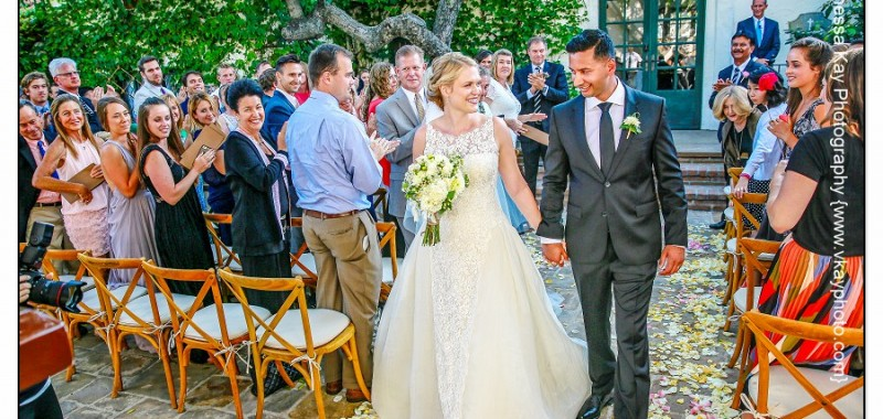 Eat, drink and be married: Ceremony and Reception time at Villa San Juan Capistrano