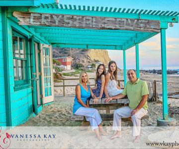 Sunset session at Crystal Cove {Orange County Family Beach Portraits}