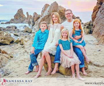 Picture perfect family on the beach {Orange County Family Portraits}