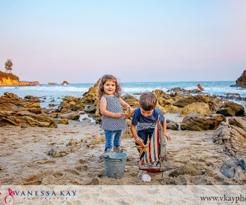 Summer beach portraits with the whole family! {OC family portrait photographer}