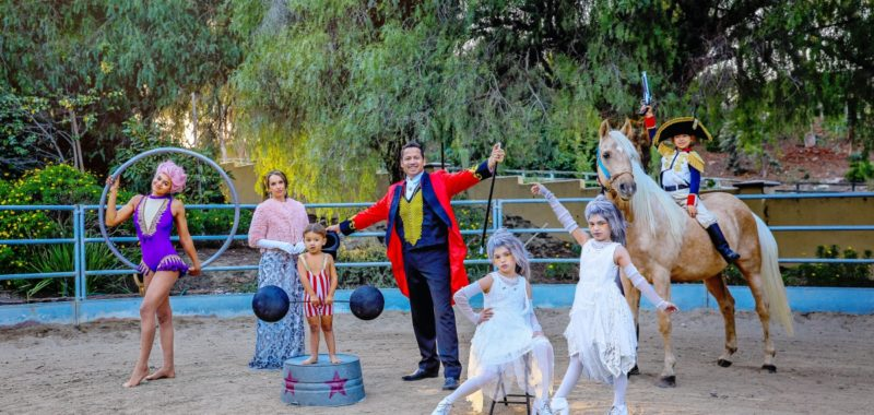 The Greatest Show(man) comes to town {Orange County Styled Family Shoot}